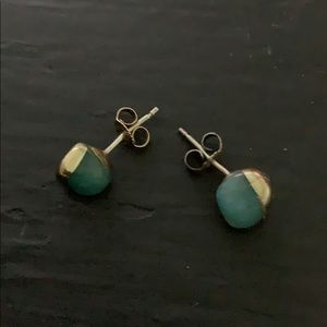 Gold Dipped Turquoise Earrings